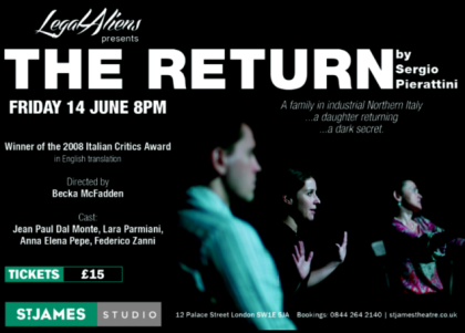 Flyer THE RETURN St James Theatre